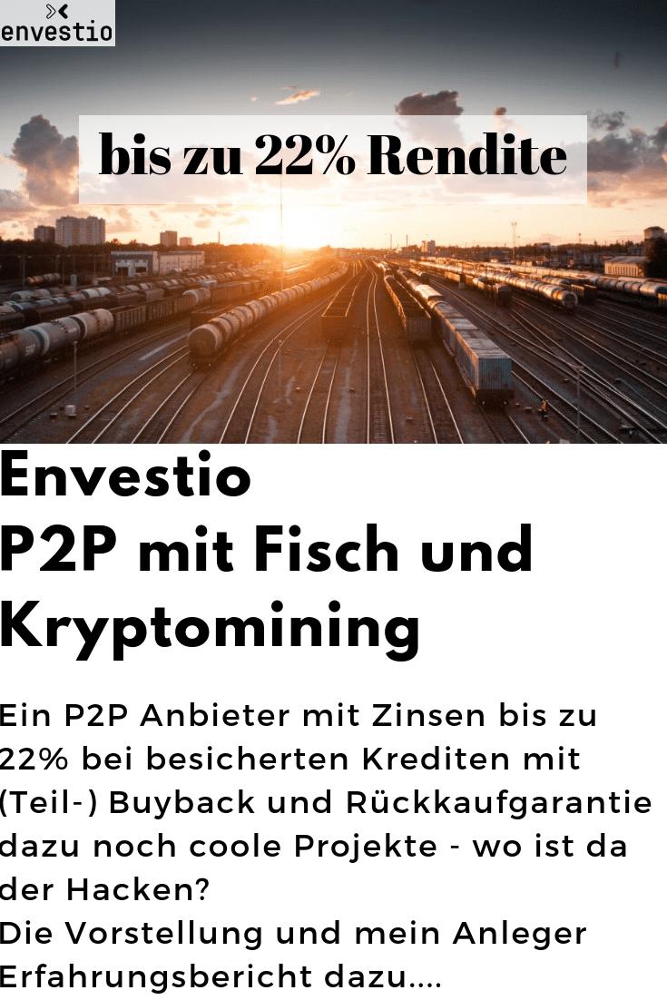 Envestio – P2P mit Fisch 🐟 und Kryptomining Ξ