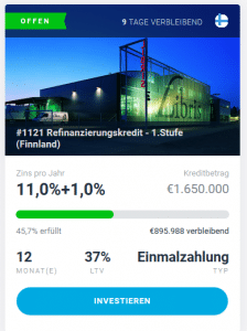 EstateGuru Projekt Finnland