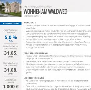 Exporo klassische Immobilienfinanzierung erstrang Grundschuld!