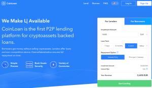 CoinLoan P2P mit Krypto als Sicherheit