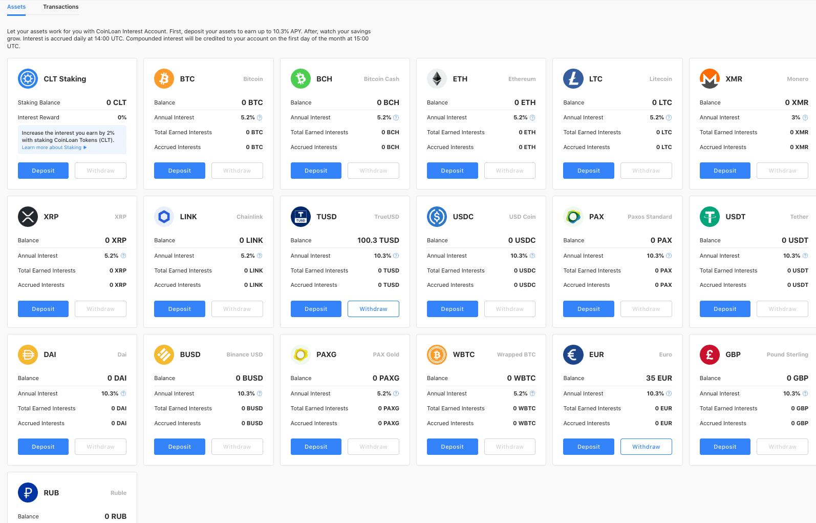 P2P Krypto lending Coinloan