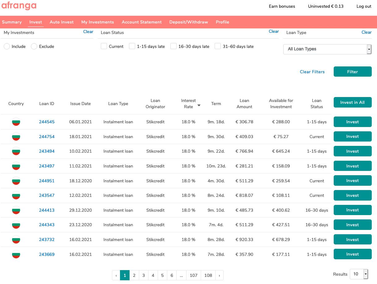 Afrange P2P Kredite Plattform