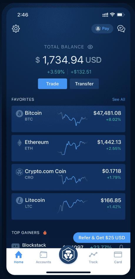 crypto.com Krypto lending Krypto cashback app