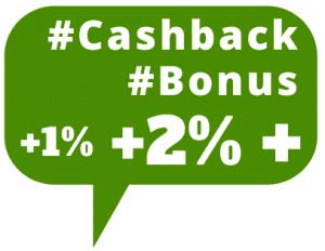 Cashback Bonus Aktionen